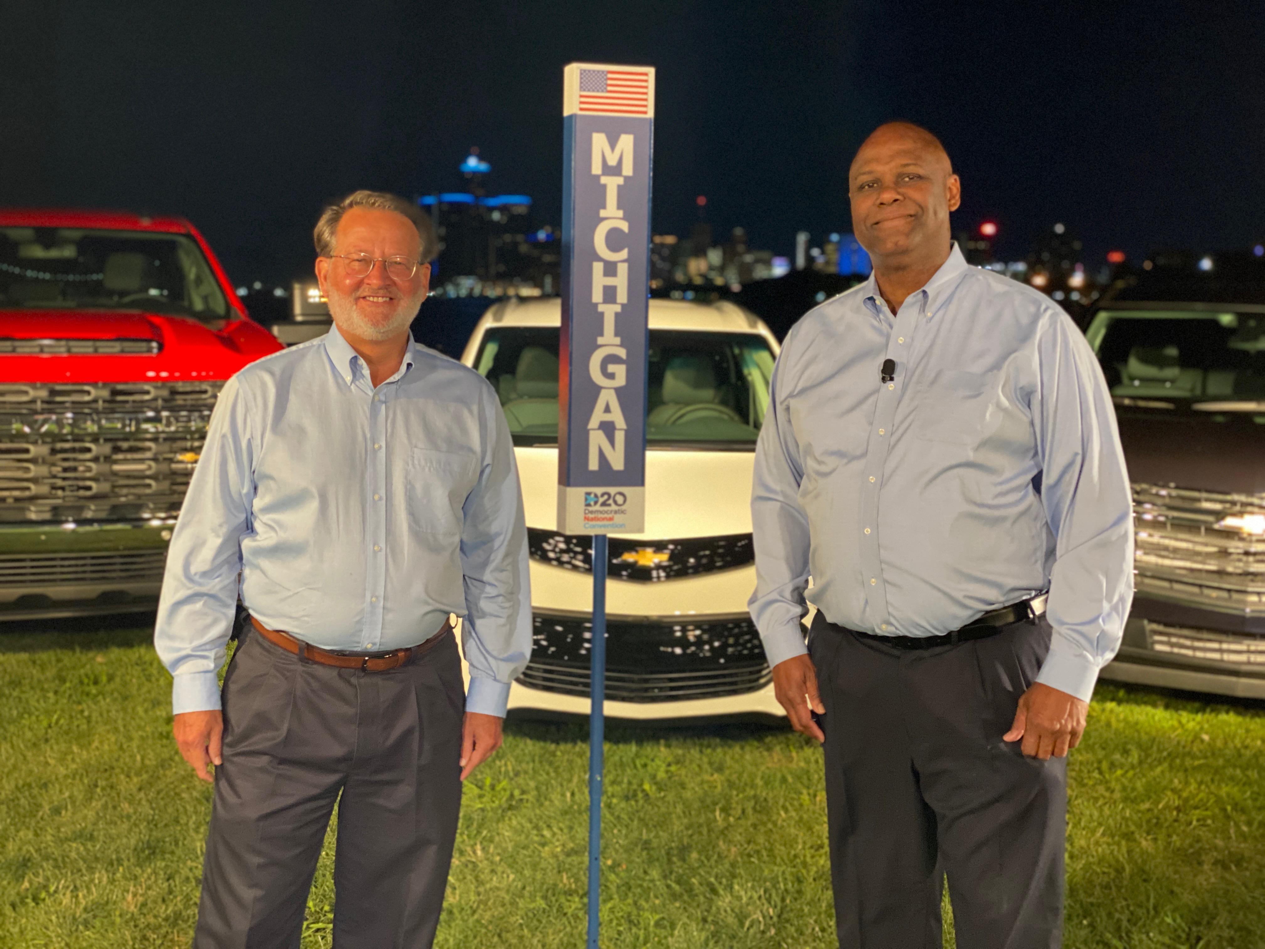 Senator Gary Peters and UAW Secretary-Treasurer Ray Curry