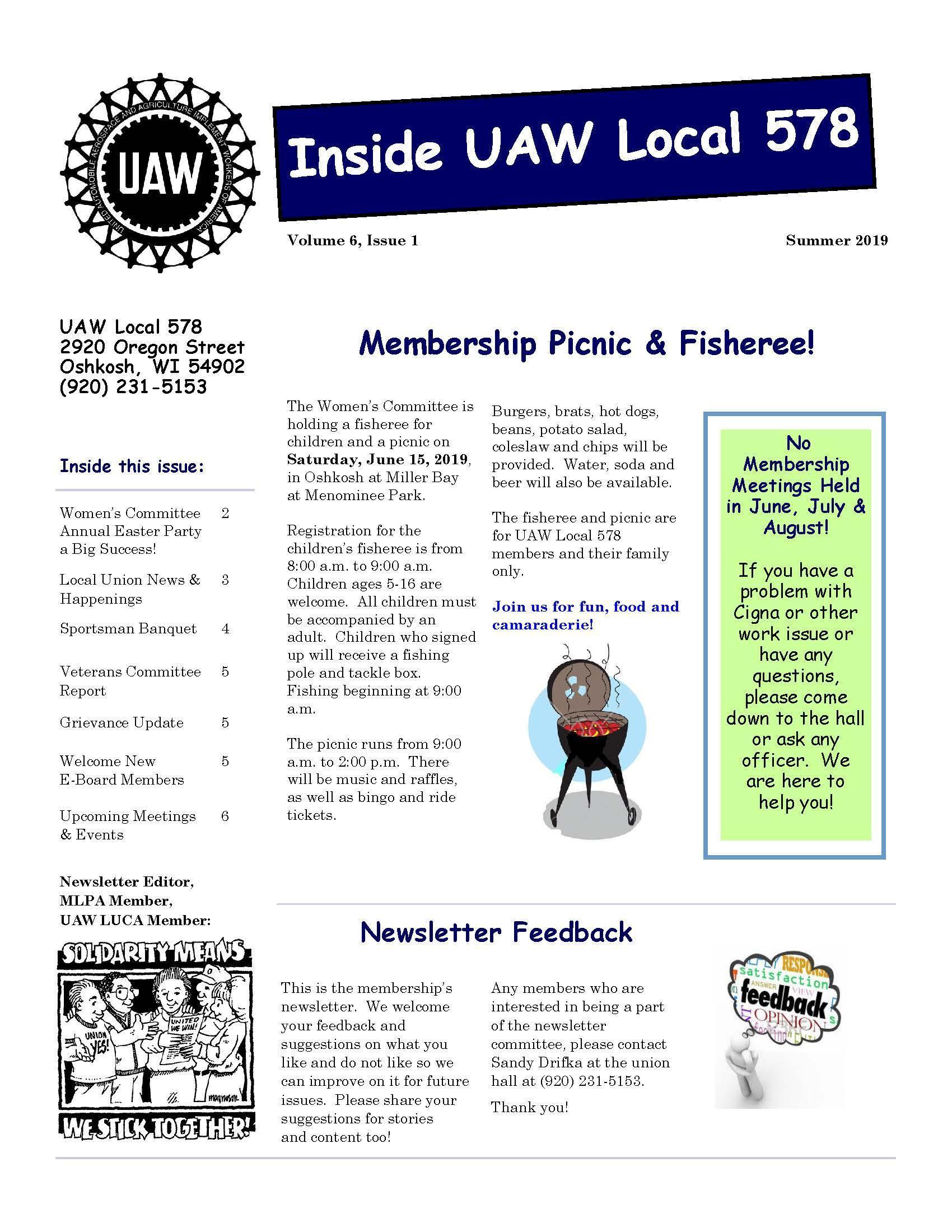 Newsletter Local 578